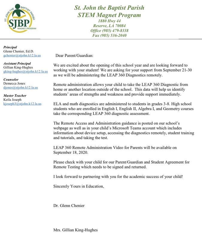 STEM Parent Letter LEAP 360 Thumbnail Image