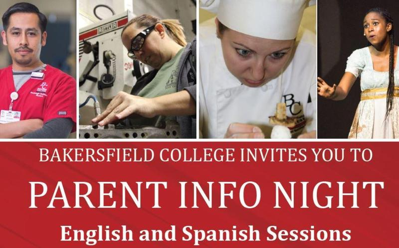 Bakersfield College Parent Information Nights Thumbnail Image