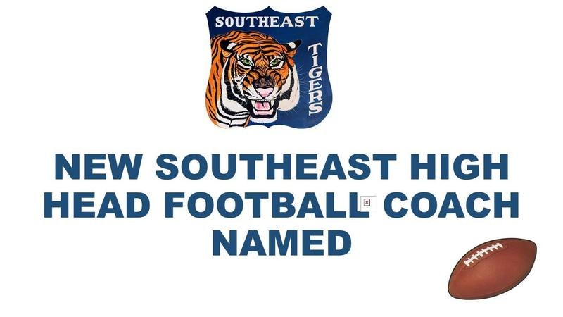 SEHS Welcomes New head football coach graphic