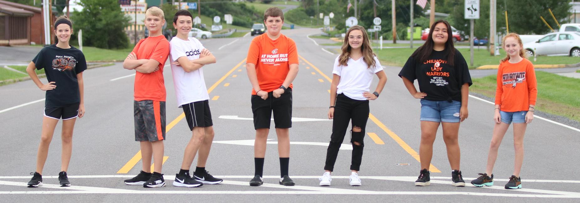 Chilhowie Middle School Student Counsel members