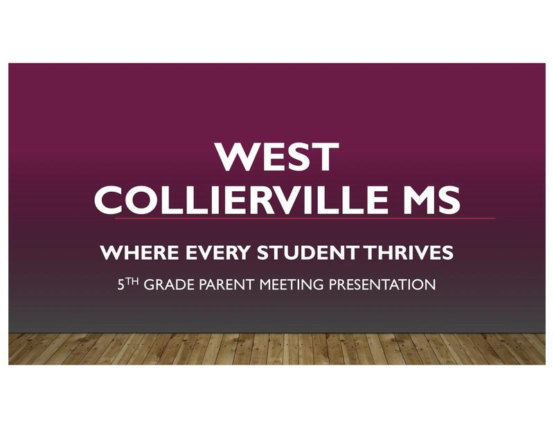 WEST: Where Every Student Thrives! - 5th Grade Parent Meeting Presentation Featured Photo