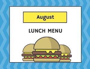 Aug. Lunch Menu