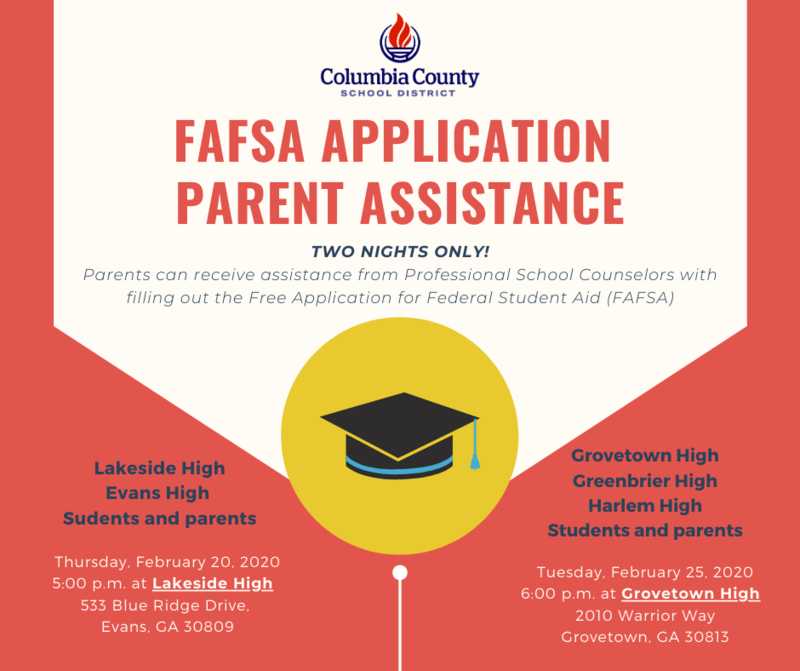 FAFSA application completion event