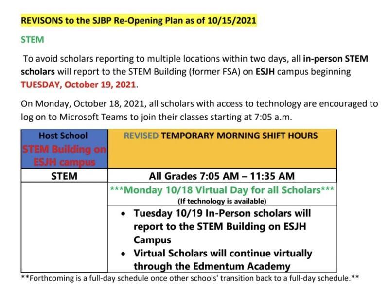 STEM Reopening Plan Thumbnail Image