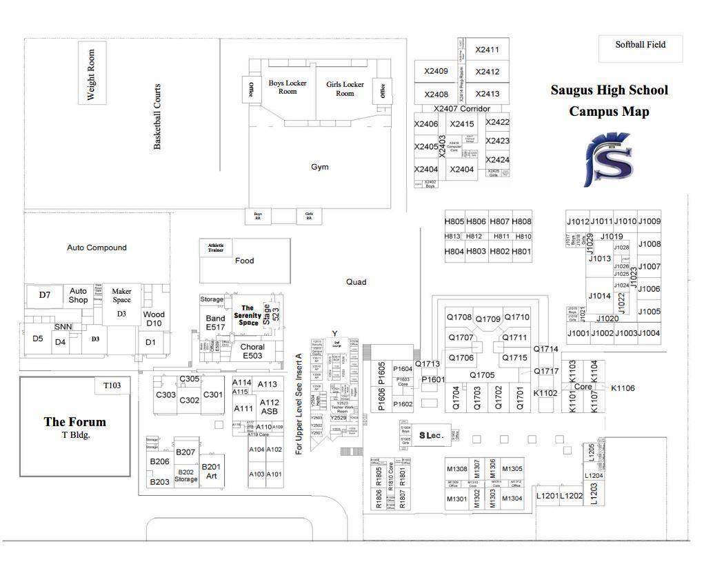 Image of Saugus Campus Map