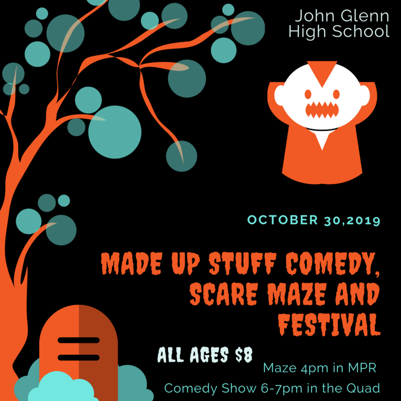 Made Up Stuff Halloween Maze and Comedy Show Featured Photo