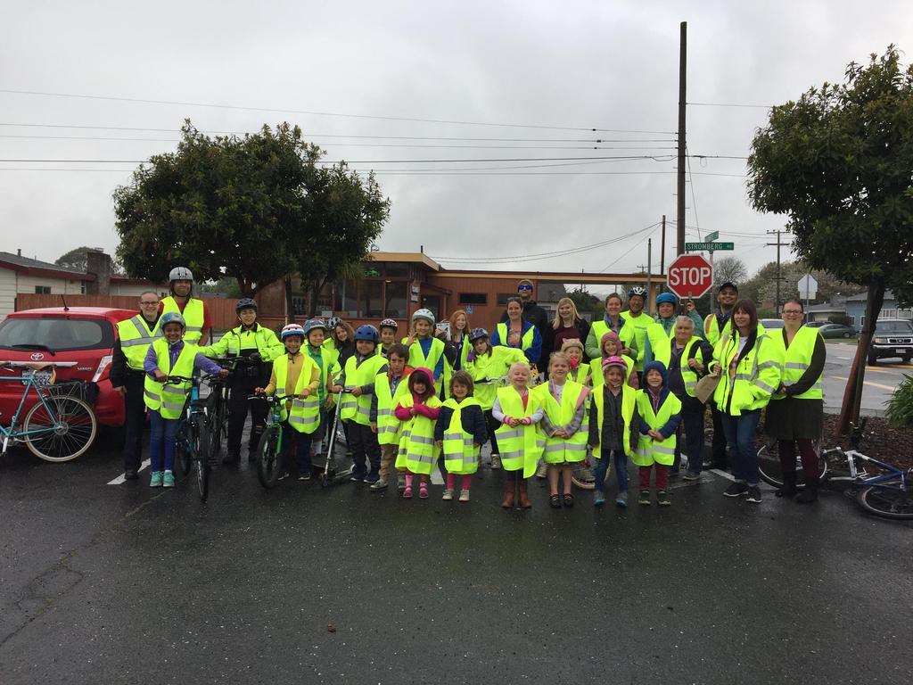group photo of walk/bike to school crowd