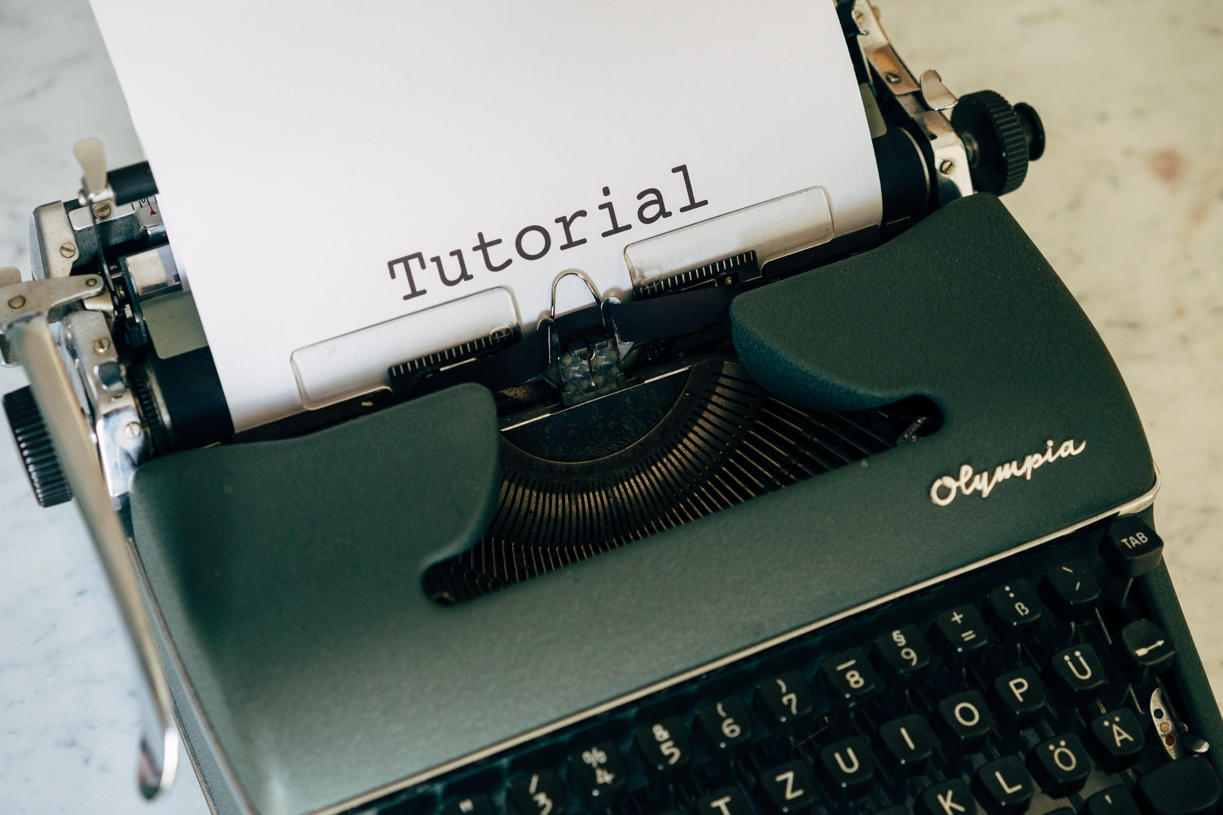 Tutorial Typewriter Image