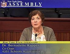 Dr Kappen testifies at Albany budget hearing