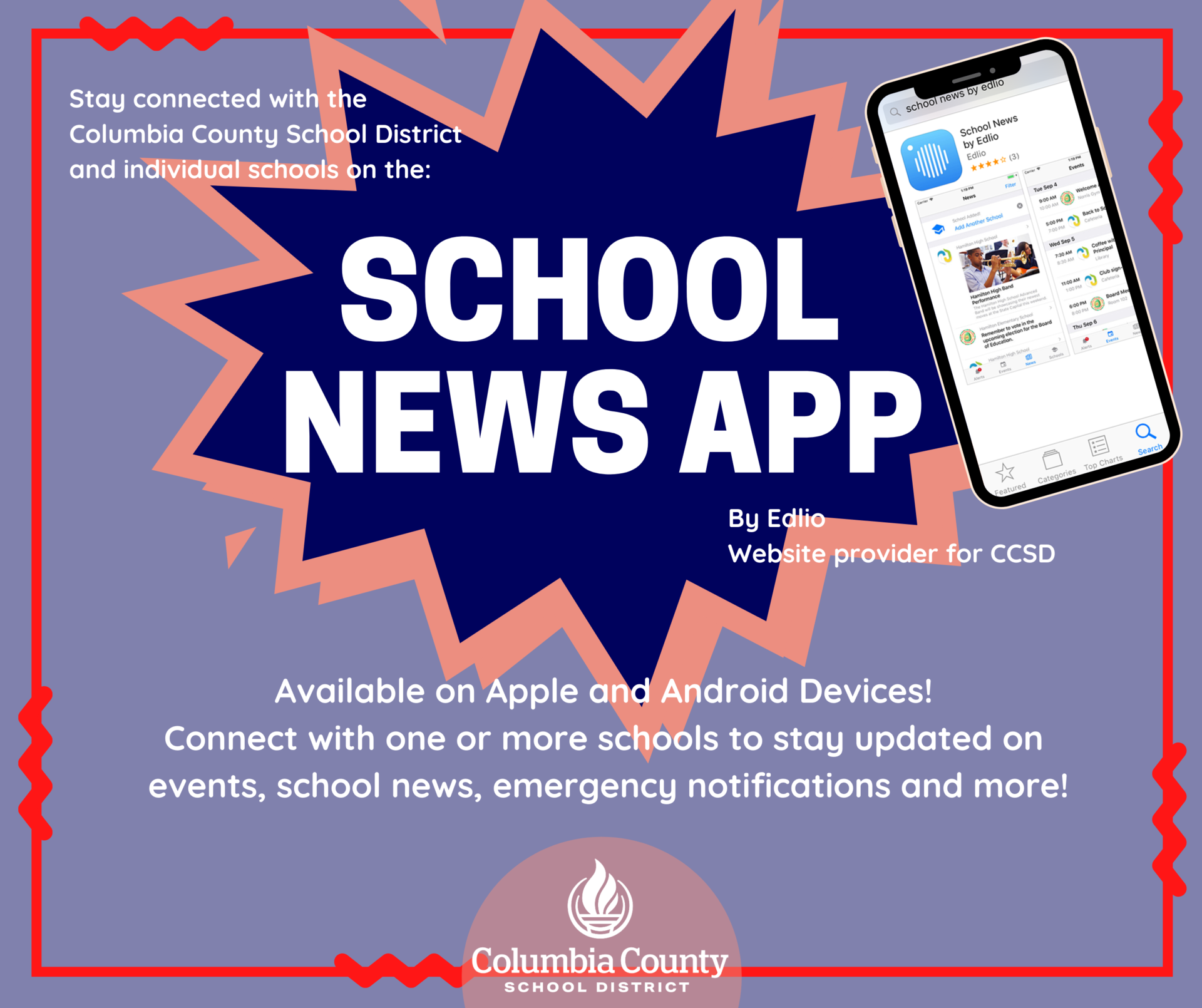 school news app by edlio graphic