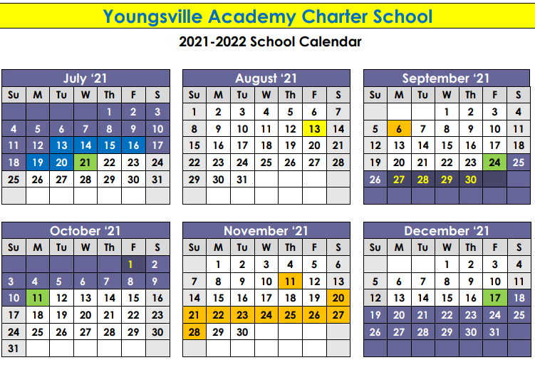 2021-2022 Academic Calendar