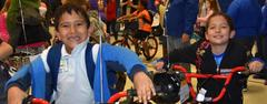 Santa surprised every third grader at West Elementary with a new bike on Dec. 19. Thank you to the Texas Angel Fund!