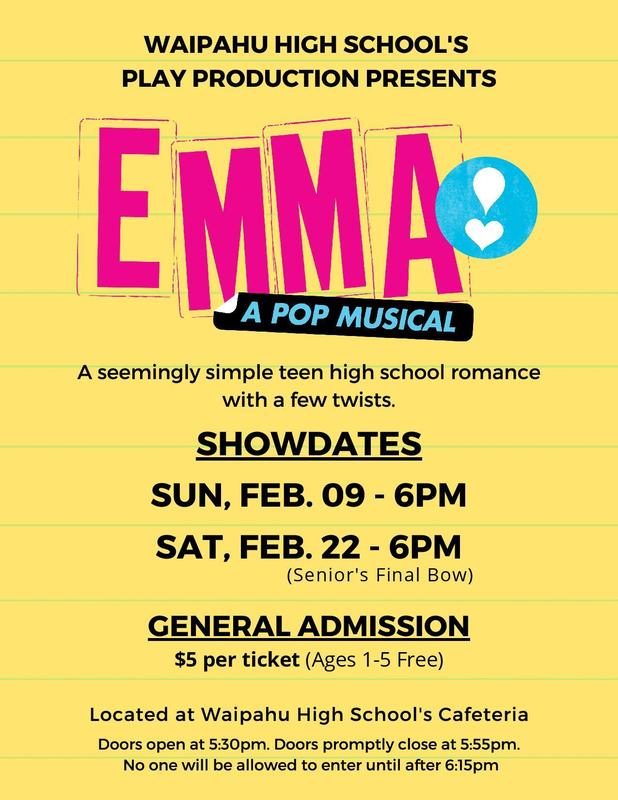 Emma a Pop Musical Event Flyer