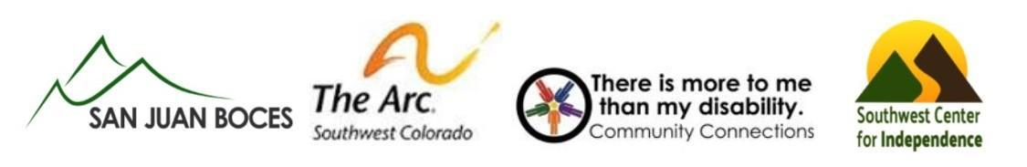 San Juan BOCES, Arc of Southwest Colorado, Community Connections, Southwest Center for Independence