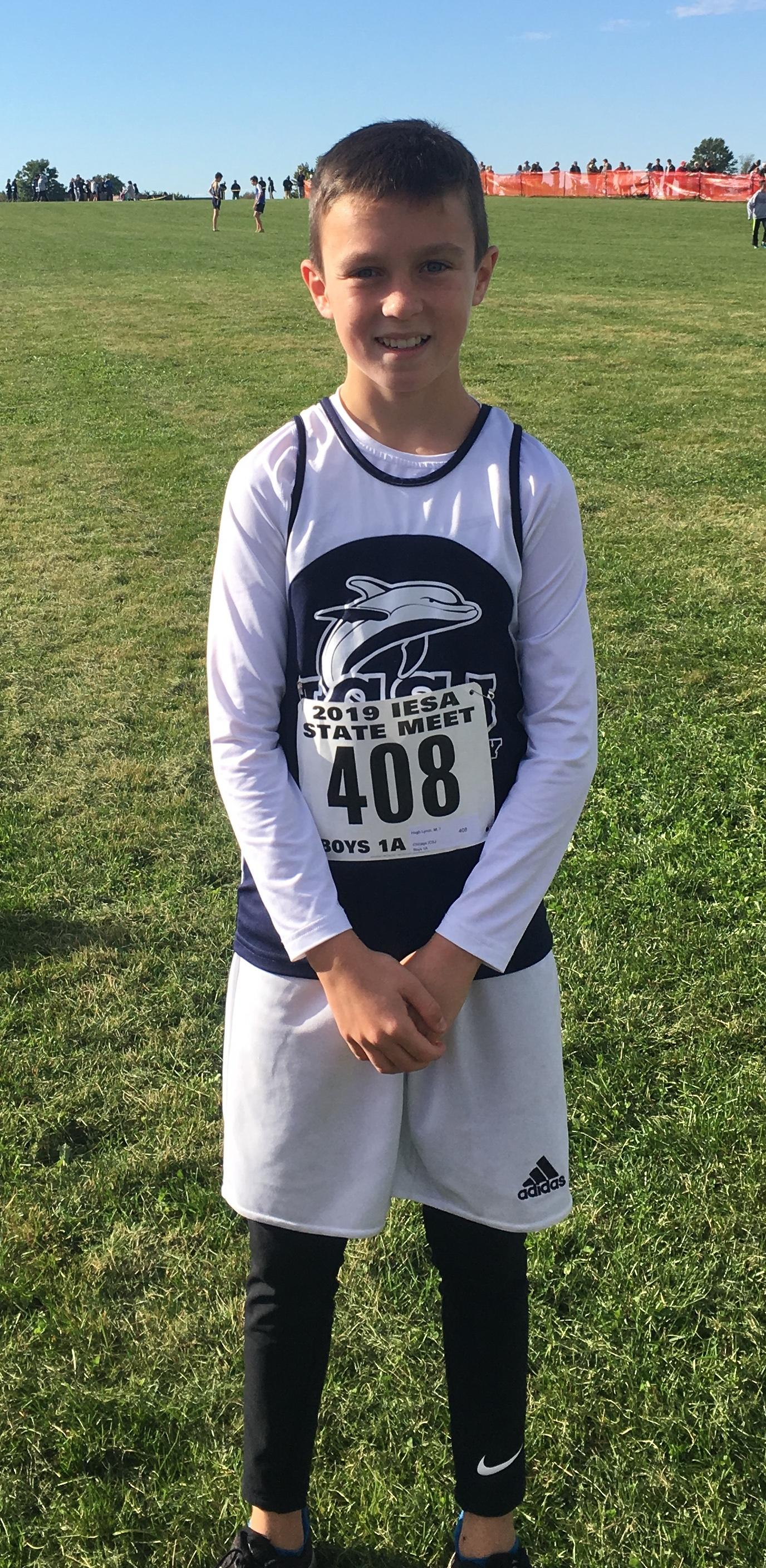 7th Grade state cross country runner