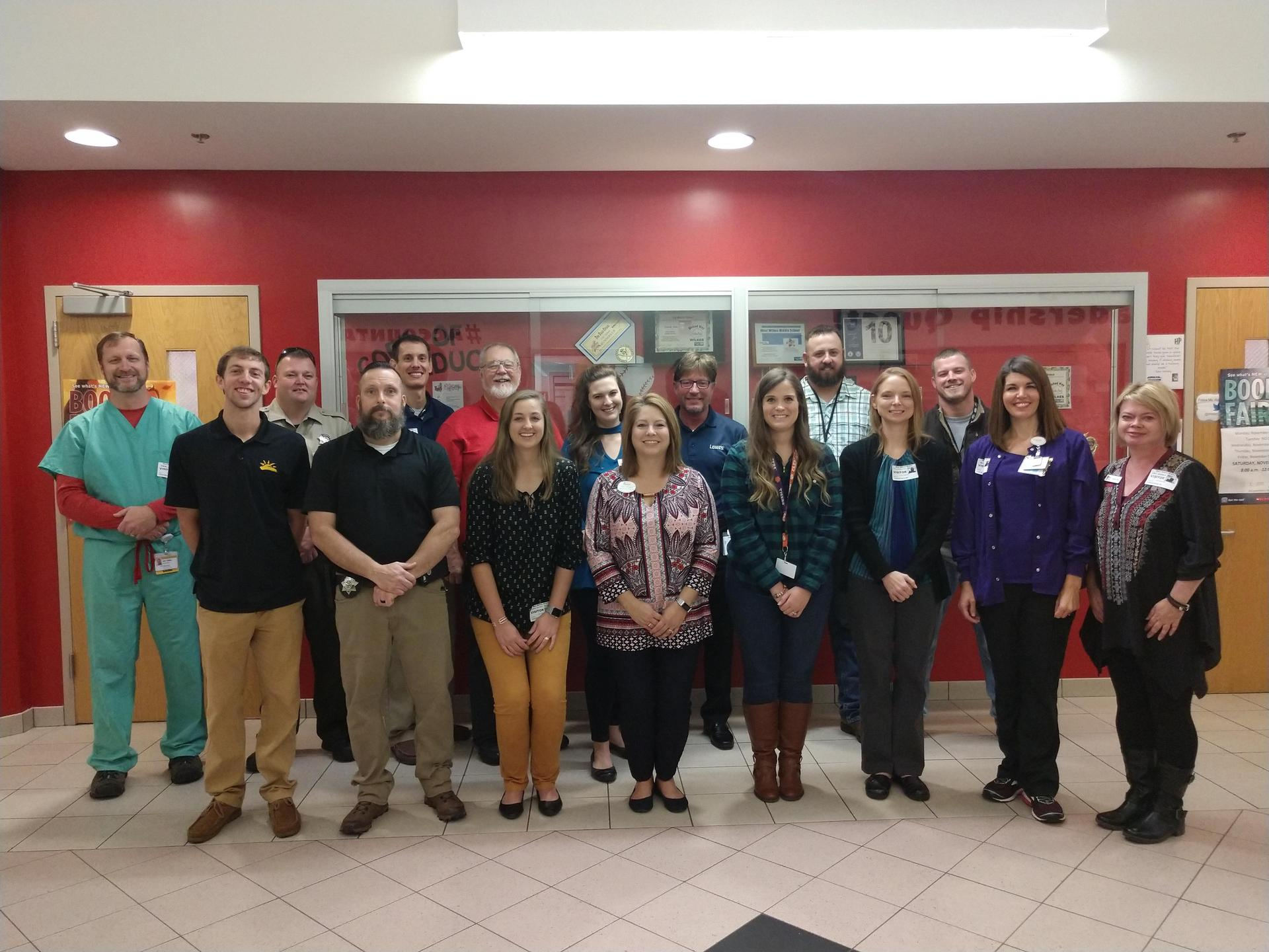 Volunteers and community business members who participated in Career Day.