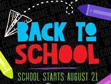 Back to school August 21st