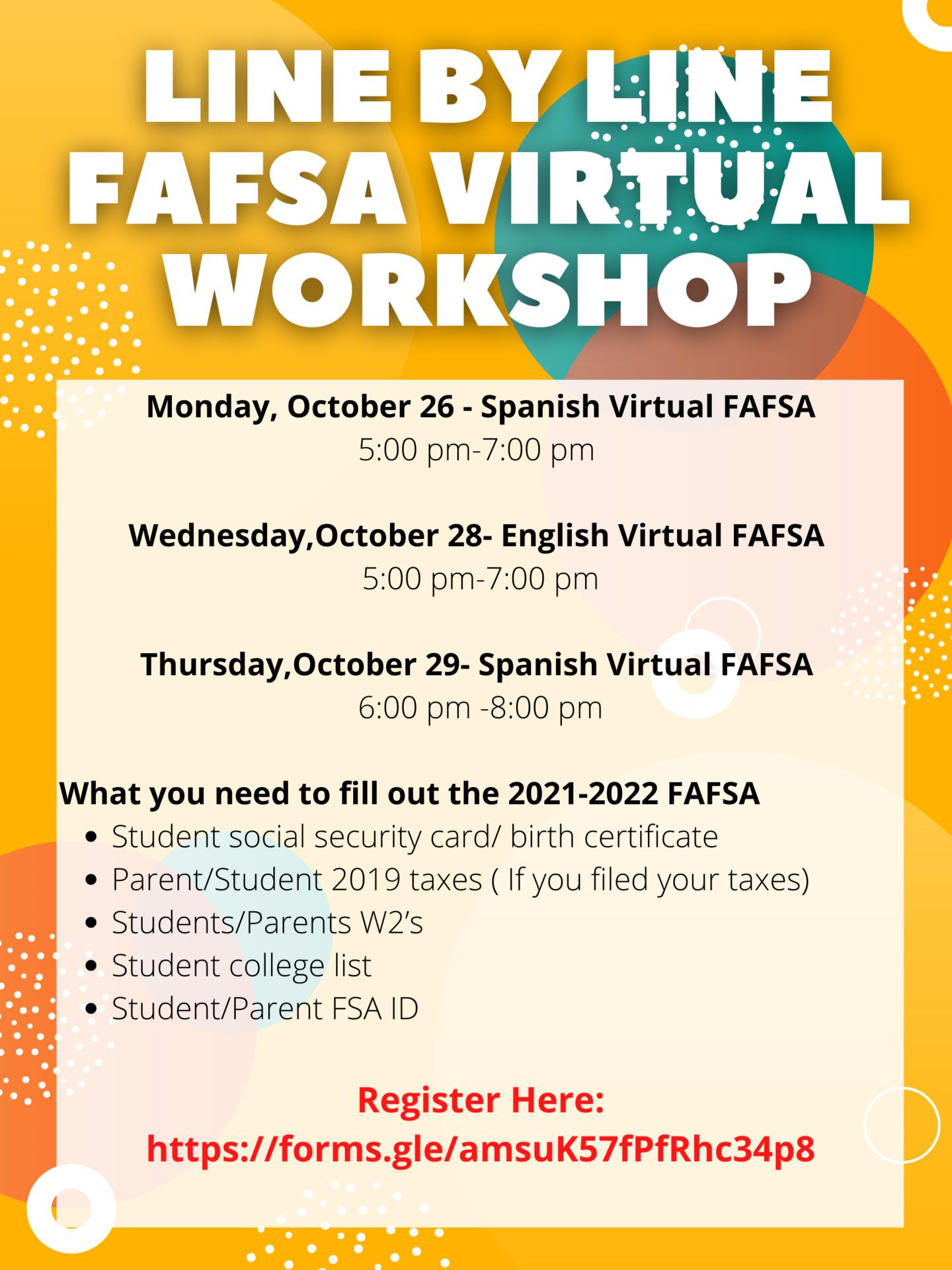 English FAFSA Workshop 2020