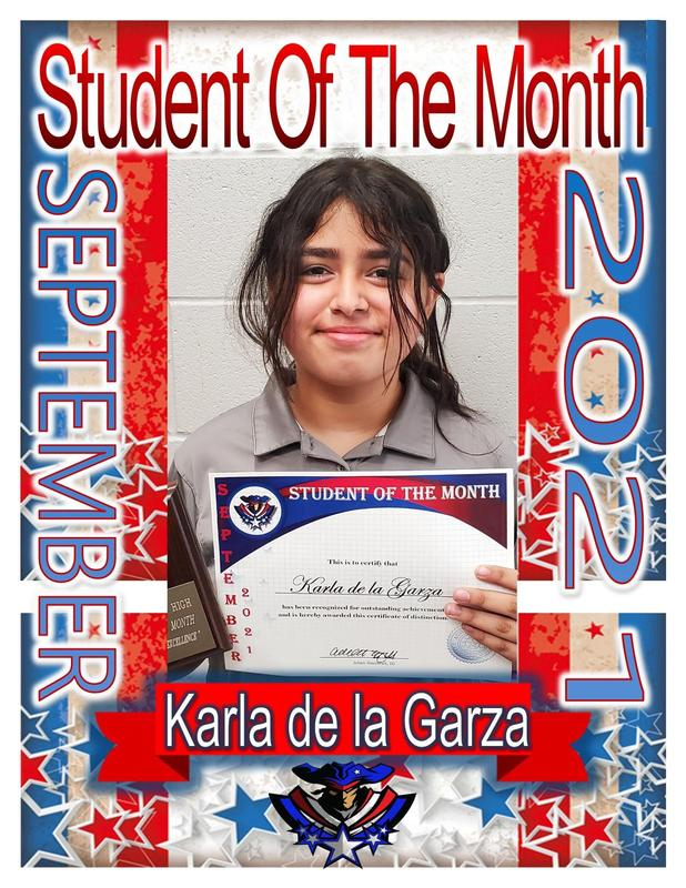 6th grade girl student of the month