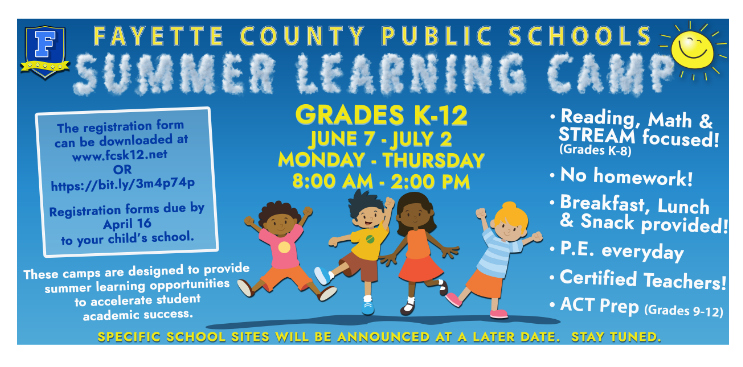 Summer Learning Camps Thumbnail Image