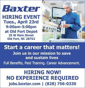 Baxter hiring event