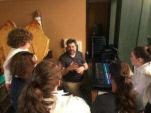 photo of David Sykut teaching OLSH students about sound