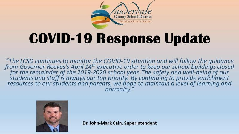 Superintendent Responds to Governor's 4/14 Order