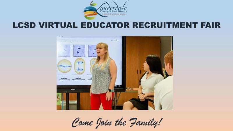 LCSD Educator Recruitment Fair Graphic