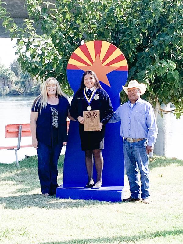 Humeumptewa wins the state Arizona FFA Star Greenhand award.