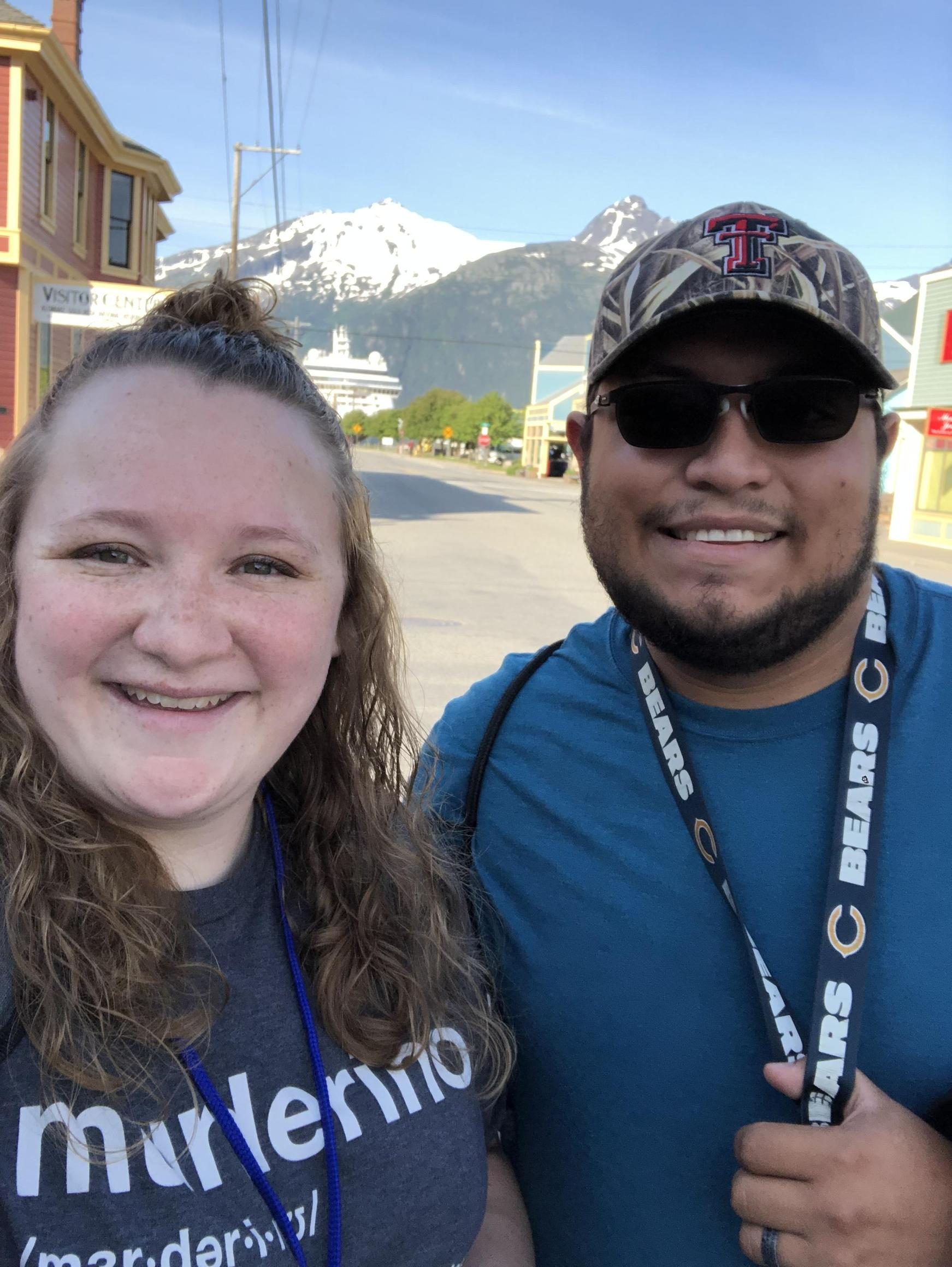 My husband and I in Skagway, Alaska.