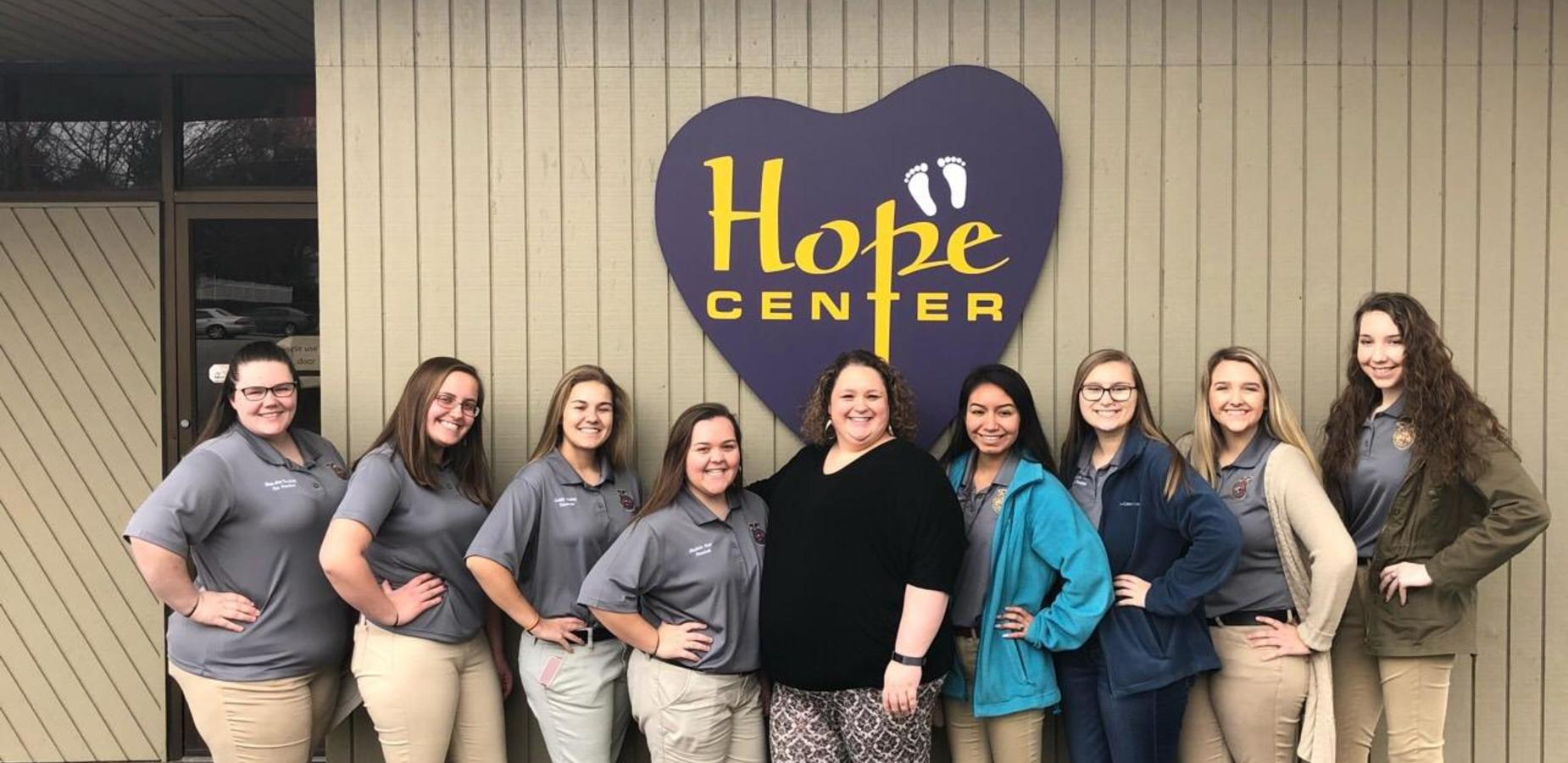 CDHS FFA volunteers at the Hope Center