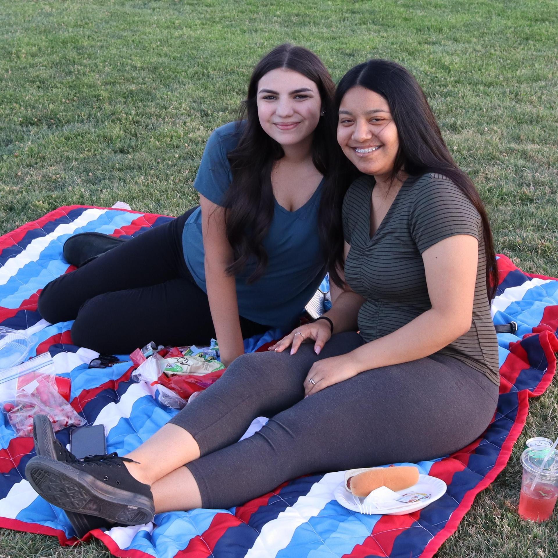 students at senior sunset