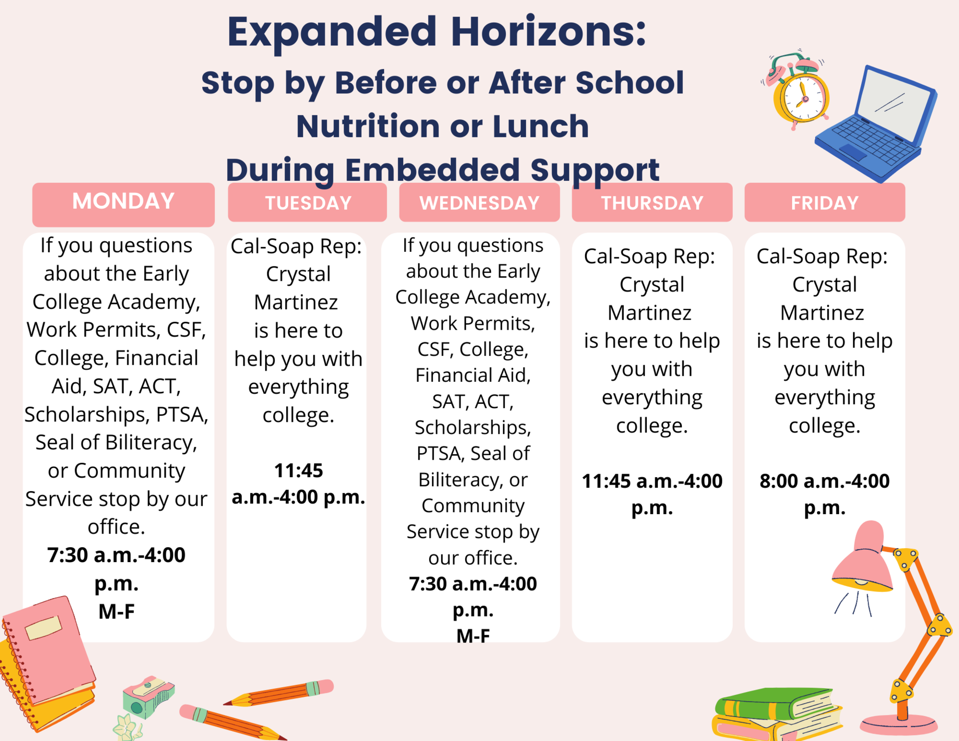 This week in the Horizons Office