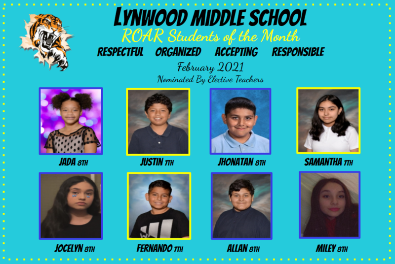 February R.O.A.R. Students of the Month Featured Photo