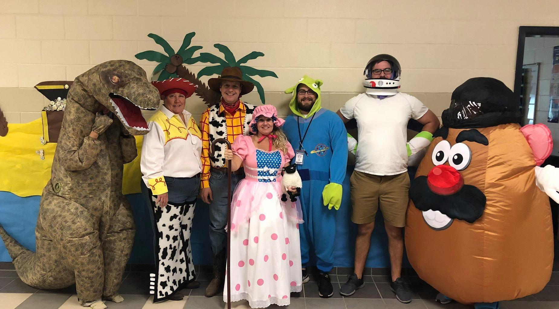 BHS teachers pose for Homecoming Week.