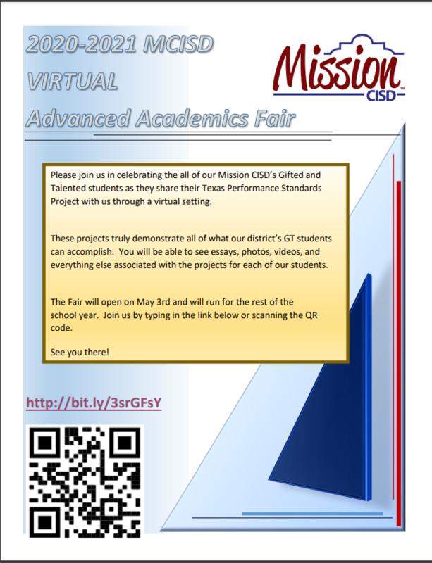 Advanced Academics Virtual Fair Featured Photo