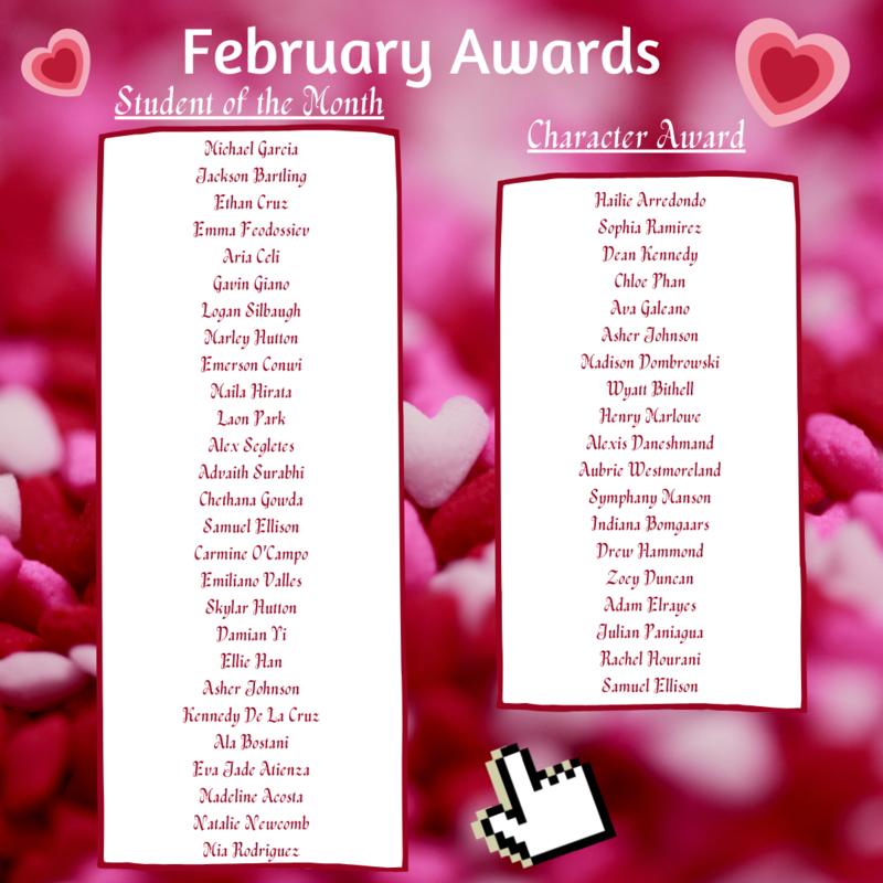 February Awards