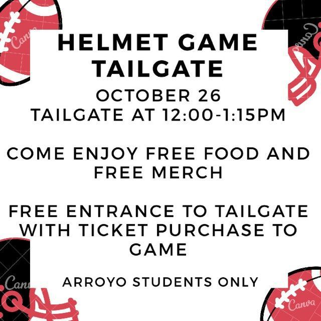 Helmet Game Tailgate 10/26 Featured Photo