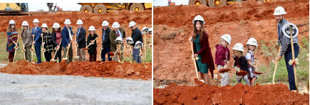 New building ground breaking ceremony