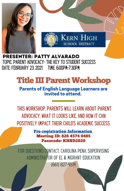 Title III Parent Workshop Thumbnail Image