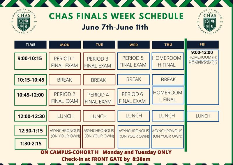 CHAS Finals Schedule Featured Photo
