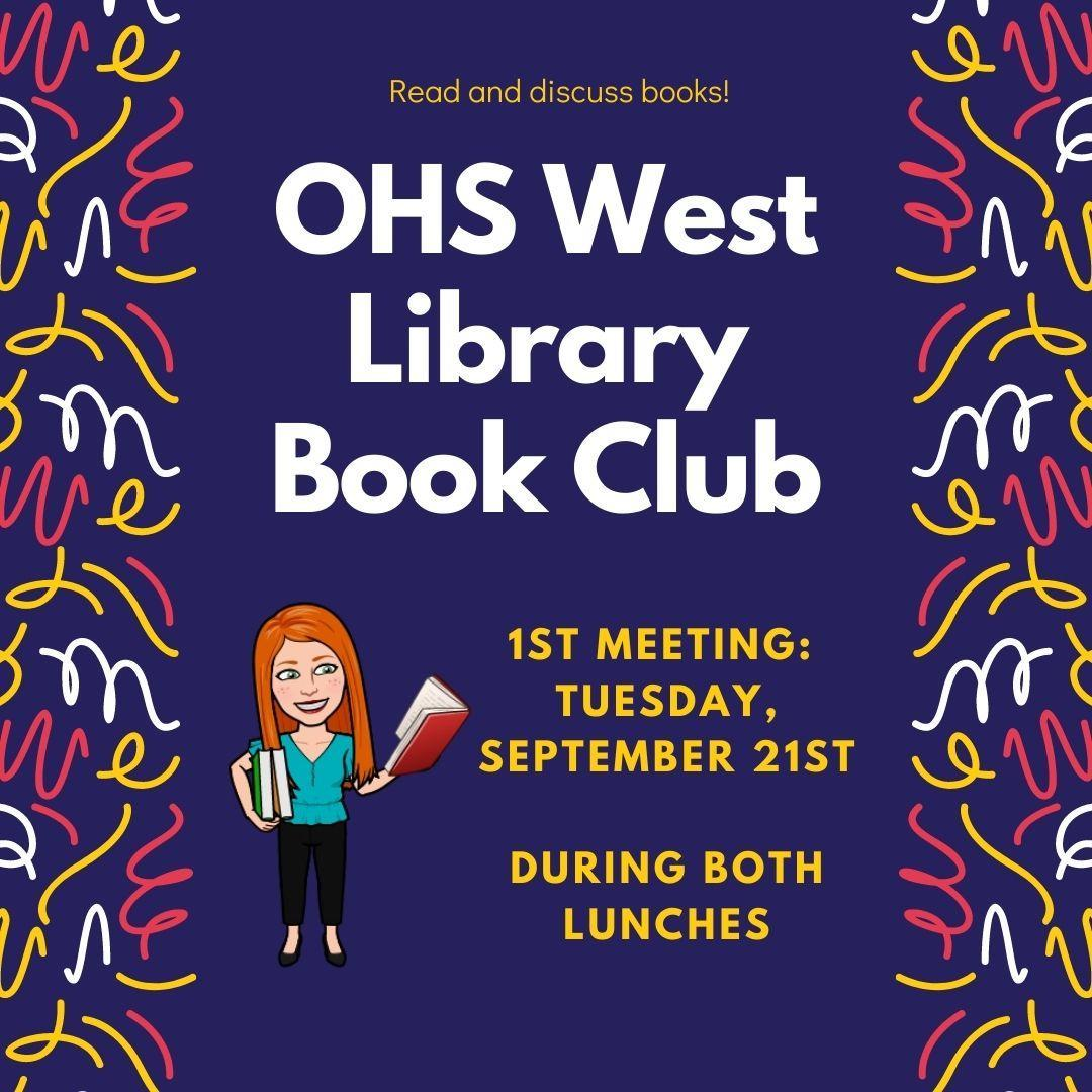 OHS West Book Club Advertisement