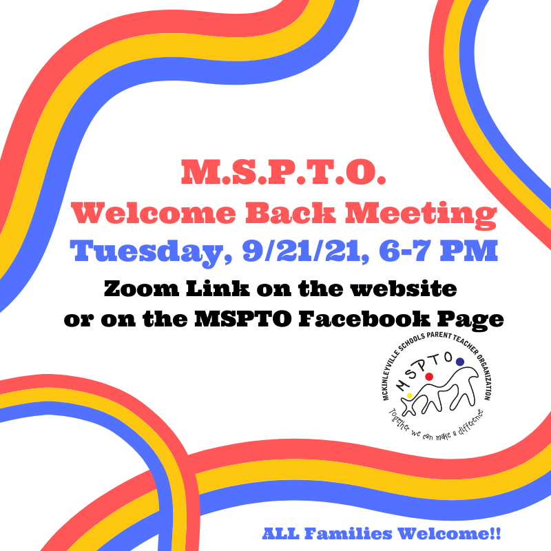 MSPTO Welcome Meeting Flyer