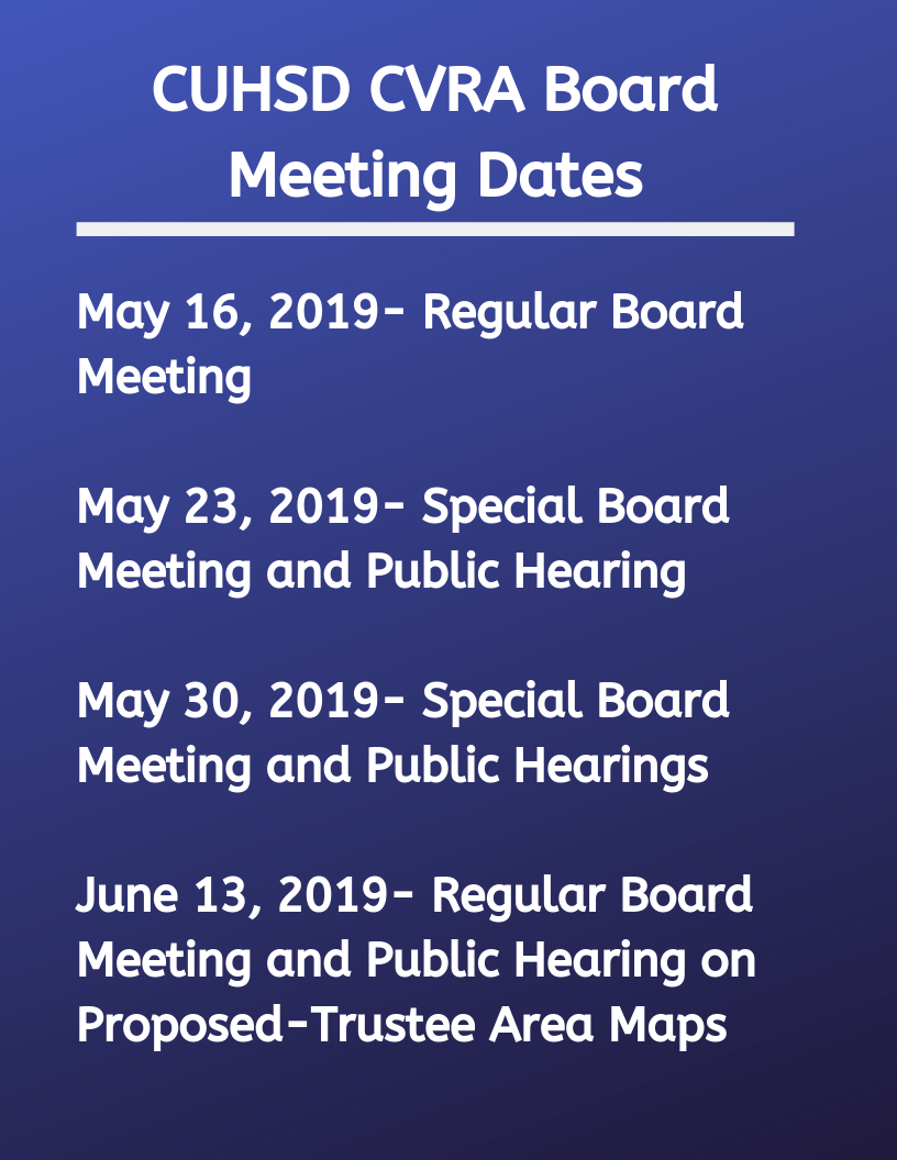 CUHSD board meeting dates