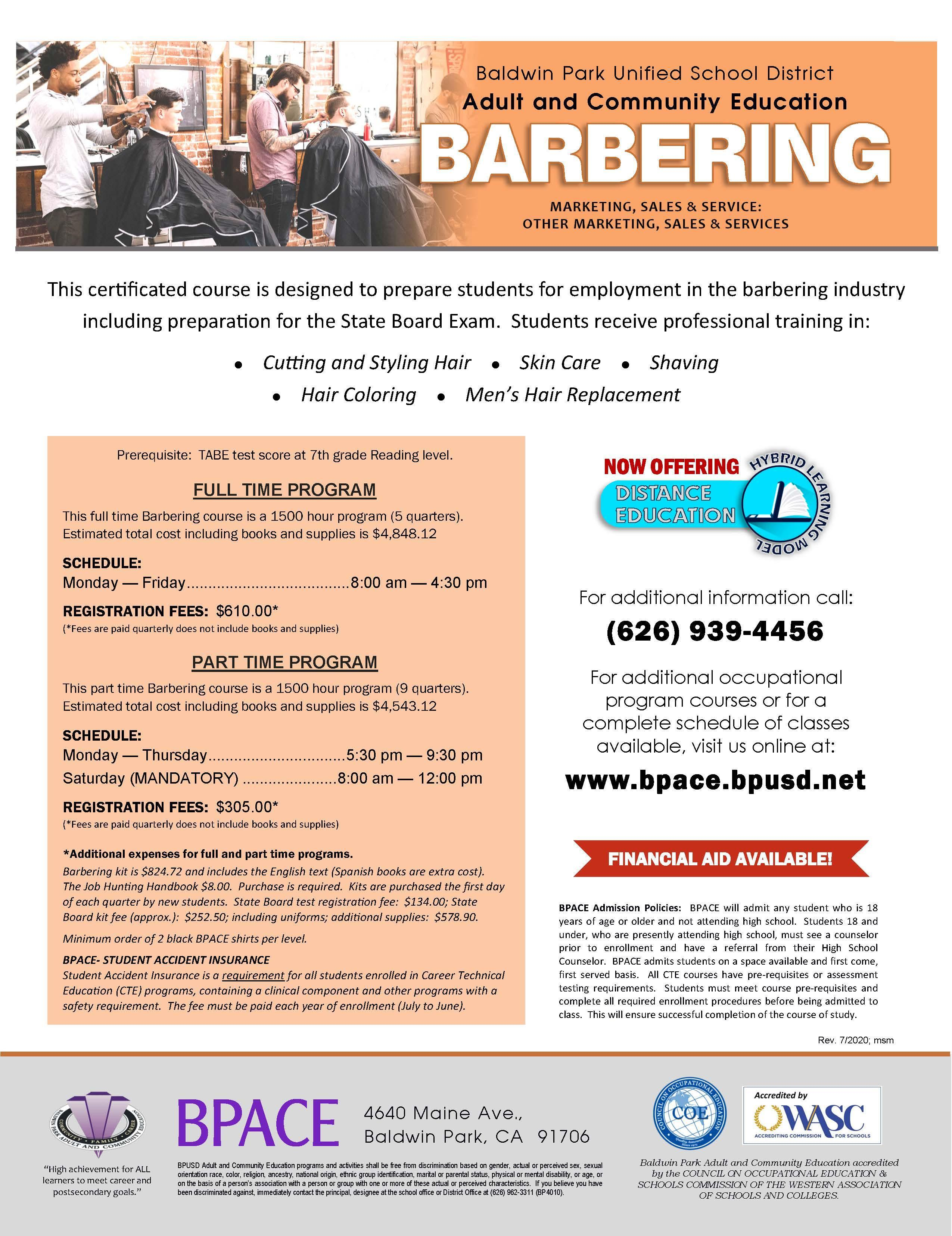 Barbering Class Flyer