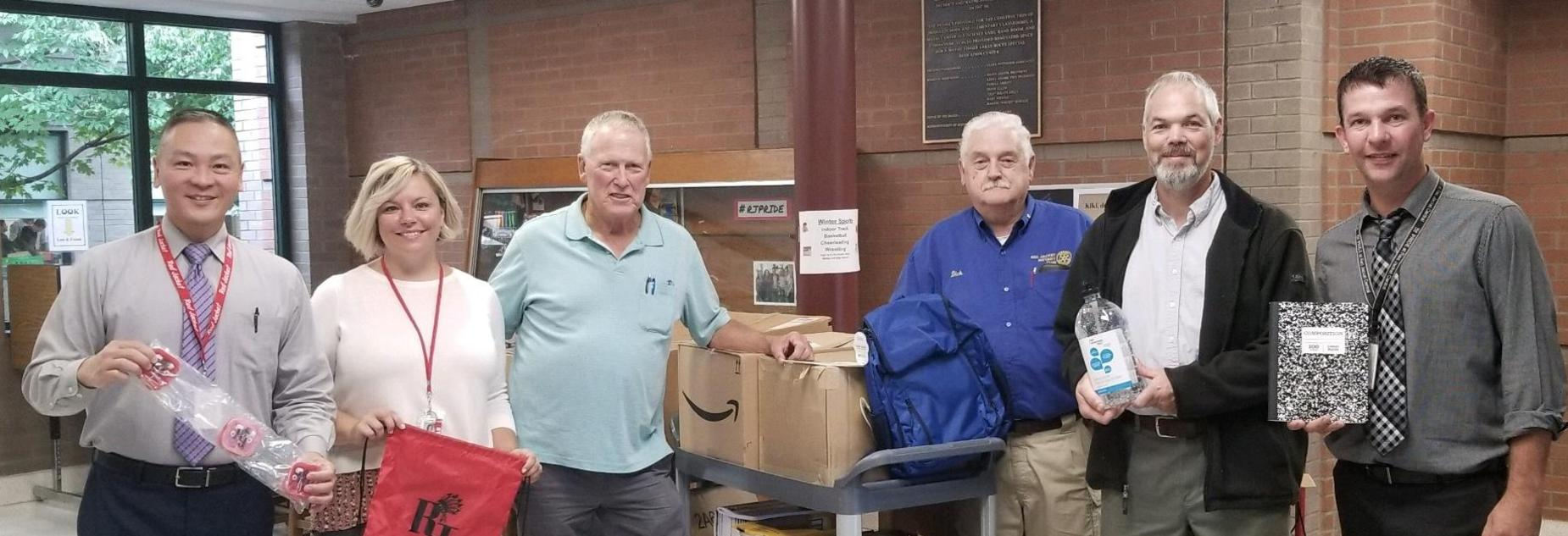 Rotary Annual School supply delivery September 2018