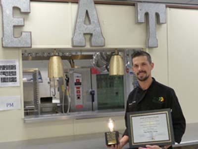 Chef Matt Young with Staff Spotlight Award
