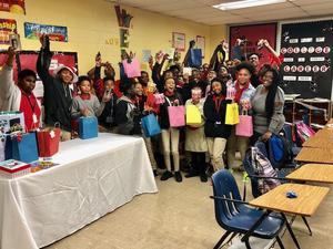 A photo from Baker Middle School's 3rd Annual JAG Christmas Party