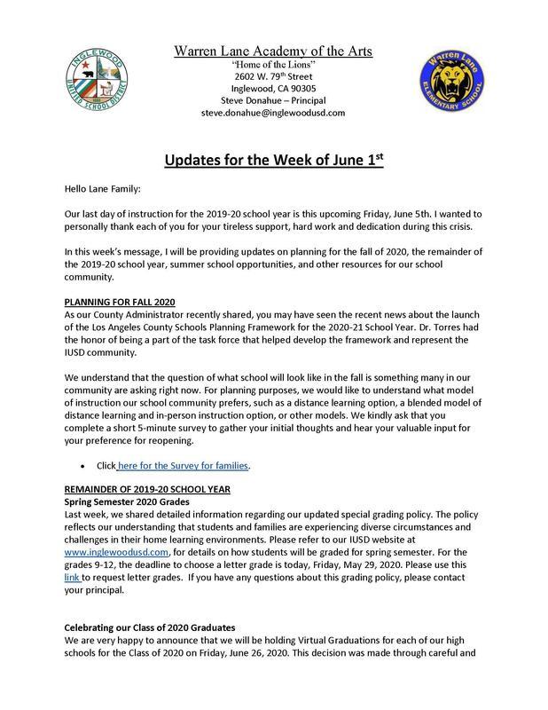 June 1st Updates page 1