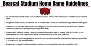 Bearcat Stadium Home Game Guidelines